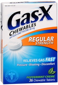 Gas-X Anti-Gas, Peppermint Creme, Chewable Tablets, 36 ea