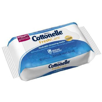 Cottonelle Fresh Care Flushable Cleansing Cloths Refills, 42 count
