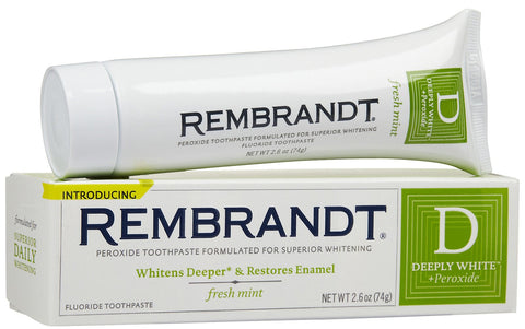 Rembrandt Deeply White + Peroxide, Fresh Mint 2.6oz