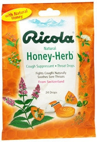Ricola Natural Herbal Cough Drops, Honey Herb, 24 ea