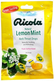 Ricola Natural Herbal Cough Drops, Lemon Mint, 24 ea