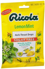 Ricola Herb Sugar Free Throat Drops, Lemon Mint, 19 lozenges