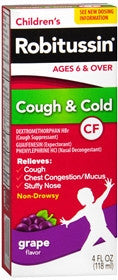 Robitussin Children's Cough & Cold Syrup, 4 oz