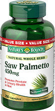 Nature's Bounty Saw Palmetto 450 mg, 100 capsules