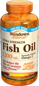 Sundown Fish Oil 1200mg, 90 softgels