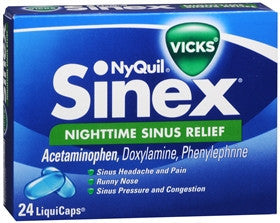 Vick's Nyquil Sinex, Nighttime Sinus Relief, 24 LiquiCaps