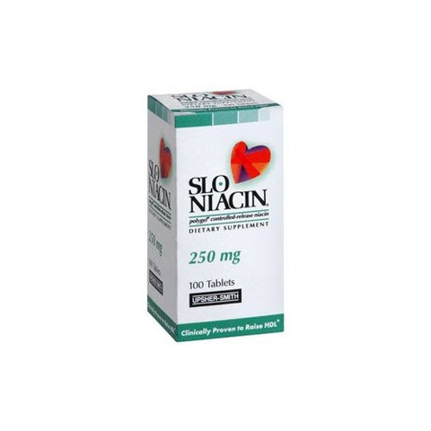 Slo-Niacin - To Reduce Flushing And Itching, 250 mg- 100 tab