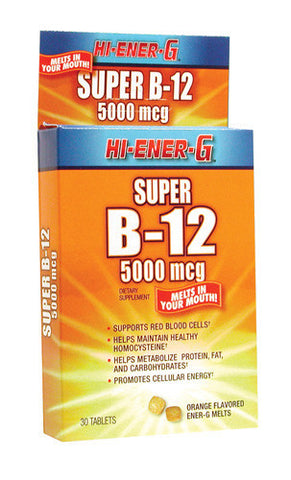 Windmill Health Products Hi-Ener-G Super B, B-12 5000, 30 tab
