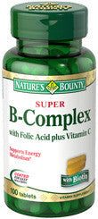 Nature's Bounty Super B-Complex, with Folic Acid & Vitamin C, 100 caplets