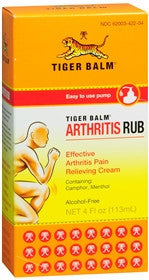 Tiger Balm Muscle Rub Arthritis Rub Cream, 4 oz