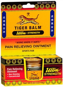 Tiger Balm Ultra Strength Pain Relieving Ointment,  Non-Staining, 18 gram