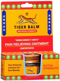 Tiger Balm Extra Strength Pain Relieving Ointment, Red, 18 gram