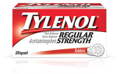 Tylenol Regular Strength 325 mg, 100 tablets