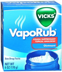 Vicks VapoRub Cough Suppressant, 6 oz