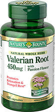 Nature's Bounty Valerian Root 450mg, 60 capsules