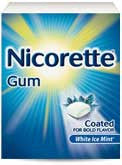 Nicorette 2mg Gum, White Ice, 100 pieces