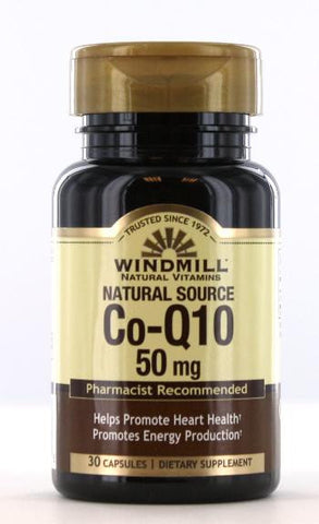 Windmill Health Products Co-Enzyme Q-10, 50 mg- 30 caps