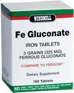 Windmill Health Products Fe Glucon Iron Supplements, 325 mg- 100 tab