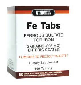 Windmill Health Products Fe, 325 mg- 100 tab