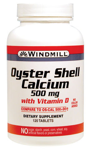 Windmill Health Products Oyster Shell, Calcium, 120 caplets
