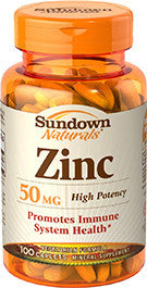 Sundown Zinc Gluconate 50mg, 100 caplets