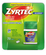 Zyrtec Tablets, 70 ea