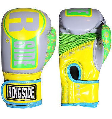 Ringside Boxing Apex Fitness Bag Gloves - Yellow / Neon Green - Sedroc Sports