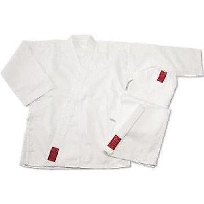 ProForce Gladiator Student Karate Uniform Gi w/ Belt Adult Child - White - Sedroc Sports