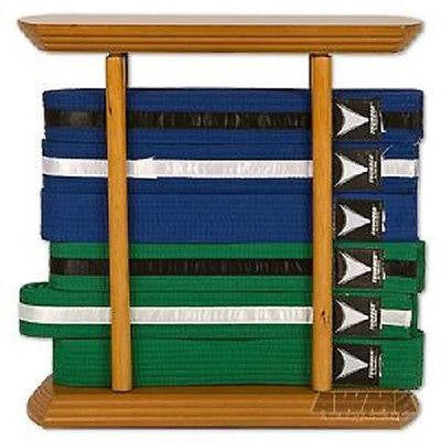 6 Level Karate Belt Display Rectangular Martial Arts Rack Tae Kwon Do Judo BJJ - Sedroc Sports