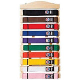Taekwondo Karate Martial Arts Wood Frame Belt Display Rack Belt Holder - 10 Belt