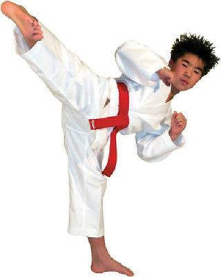 Student Karate Uniform Gi w/ White Belt Child Adult Size Gear Taekwondo Supplies - Sedroc Sports