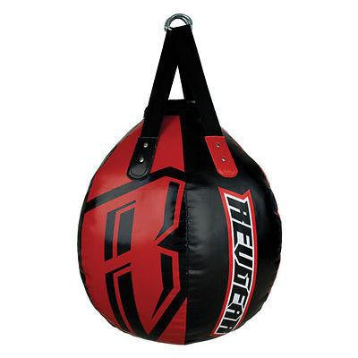 Revgear Wrecking Ball Heavybag Leather Heavy Punching Bag - Black / Red