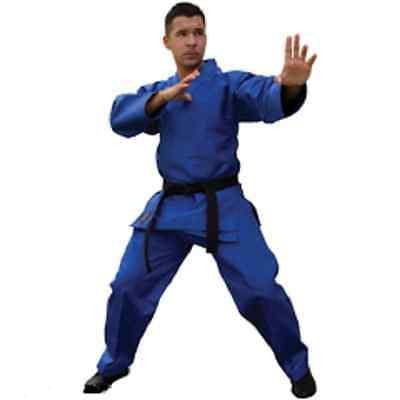 Tae Kwon Do Lightweight V-neck Uniform Gi Child Youth Adult TKD - Blue - Sedroc Sports
