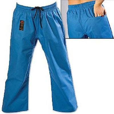 ProForce Gladiator 8 oz. Combat Karate Uniform Gi Pants Youth Child Adult - Blue - Sedroc Sports