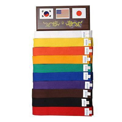 Martial Arts Karate Taekwondo Judo 10 Belt Display Rack