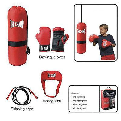 Deluxe Youth Boxing Set, Gloves, Headgear, Punching Bag - Kids Training Gear Toy - Sedroc Sports