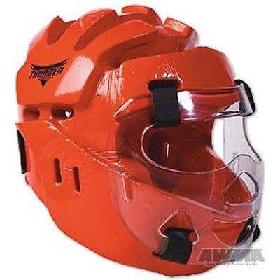 ProForce Thunder Martial Arts Head Guard / Headgear Karate Sparring Face Shield