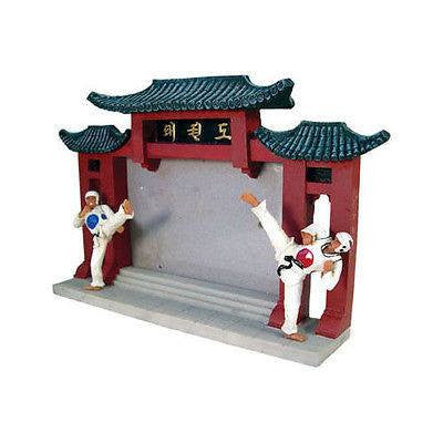 Taekwondo Picture Frame Photo Display Desktop Standing Korean Fighters Scene