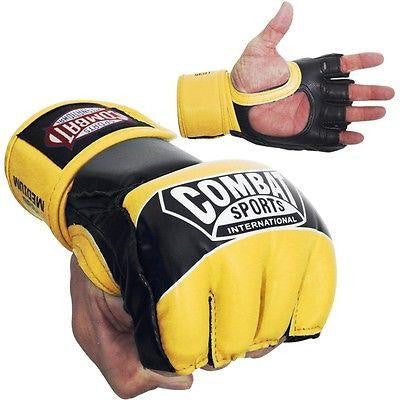 Combat Sports Pro Style MMA Training Competition Gloves - Neon Yellow - Sedroc Sports