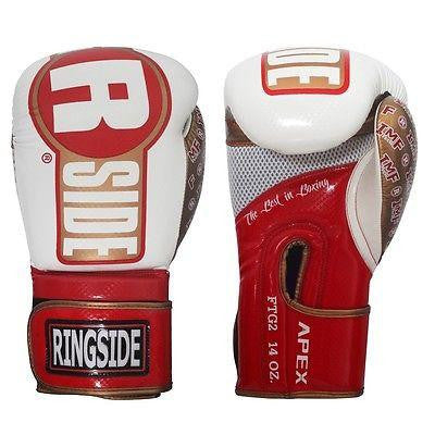 Ringside Apex Flash Sparring Gloves - White / Red / Gold - Sedroc Sports