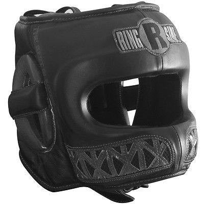 Ringside Boxing Youth Face Saver MMA Sparring Headgear - Black - Sedroc Sports