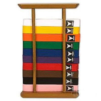 Karate Belt Display 10 Level Free-standing Taekwondo Judo Jiu-Jitsu Belt Rack