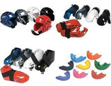 6 piece Sparring Gear Set Head Foot Hand Pads Mouth Guard Taekwondo Karate - Sedroc Sports
