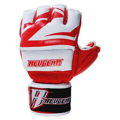 Revgear Deluxe Pro MMA Gloves - Red - Sedroc Sports