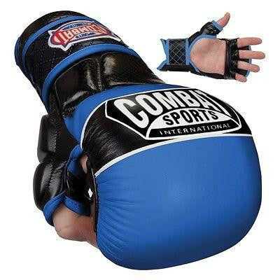 Combat Sports Max Strike MMA Training Gloves - Blue - Sedroc Sports