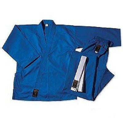 ProForce Gladiator Student Karate Uniform Gi w/ Belt Adult Child - Blue - Sedroc Sports