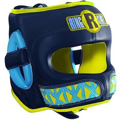 Ringside Boxing Youth Face Saver MMA Sparring Headgear - Blue / Yellow - Sedroc Sports