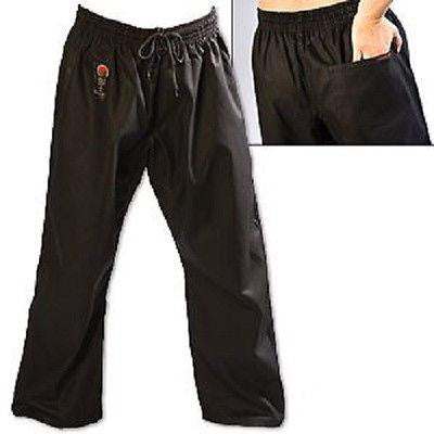 ProForce Gladiator 8 oz. Combat Karate Uniform Gi Pants Youth Child Adult Black