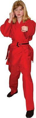 Student Karate Uniform Gi Child Adult Size Gear TKD Tae Kwon Do Supplies - Red