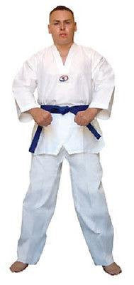 Lightweight Student Taekwondo Uniform Gi with White Belt Child Adult Sizes - Sedroc Sports